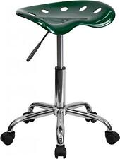 Flash Task Chairs Furniture Lf214Agreengg Vibrant Green Tractor Seat and Chrome