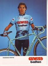 CYCLISME carte cycliste FRANCESCO FRATTINI équipe GEWISS BALLAN 1993