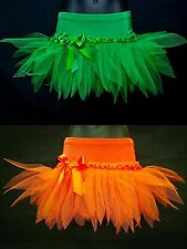 PLUS SIZE ORANGE & GREEN HALLOWEEN TUTU MINI SKIRT- FANCY DRESS UP PARTY COSTUME