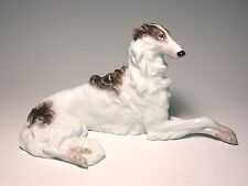 Austrian Augarten black Borzoi,russian wolfhound dog