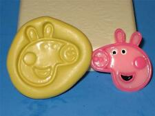 Peppa Pig Silicone Push Mold Food Grade Mould Chocolate Sugarcraft Resin A88