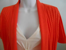 Fred David Petite 2pc Look Cardigan Orange White Career Casual NWT $58 Size PS