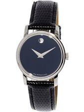 Movado Women's Museum 2100004 Black Leather Swiss Quartz Dress Watch