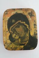 Vintage Prayer Icon Mary & Jesus