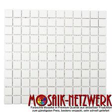 Mosaik uni weiß anti rutsch R10B Duschtasse / -boden Art: 18-0102-R10 | 10Matten