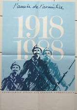 MILITARIA Affiche ancienne 1918-1988 année de l'armistice anciens combattants
