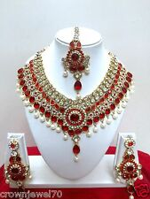 Indian Designer Bollywood Style Gold Plated Fashion Bridal Jewelry Necklace Set