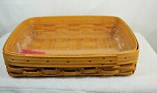 New ListingLongaberger 2002 Paper Tray Basket w Protector