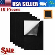 10Pcs Back Felt Sheets Fabric Sticky Self-Adhesive Water Resistant Craft Black