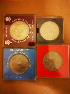 Four Commemorative Crown Coins Including 1953 And 1960