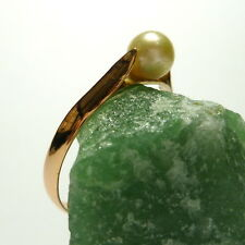 585/14k Gran Oro Rosa Anillo De Perlas 61 (19,4 mm Ø ) Goldring con