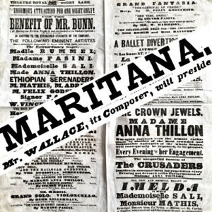 1846 Drury Lane theatre programme Wallace CONDUCTS Maritana cello opera harpist