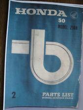 HONDA Z50A PARTS CATALOG MANUAL JAN 25TH 1969 2ND EDITION