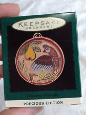 1995 Hallmark Keepsake Miniature Ornament Cloisonne Partridge Precious Edition