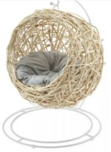 Cat Egg Chair CREAM Rattan - Aldi Cat Chair - Collection Surrey Or Post