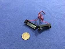 "2 Pieces 12V Clip Holder Box Case 23A A23 Battery 6"" Lead Black Alkaline b20"