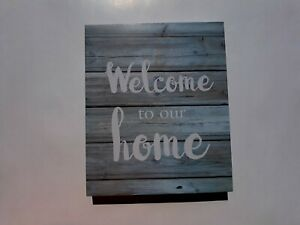 Farmhouse style wall decor Picture. Welcome to our Home. - WA101207 Blue.