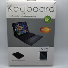 Leather Bluetooth Keyboard Case +Stand For Air 1/2