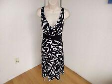 R&K Dress Black White Wrap Look Knit  Size 14  NWOT #L45
