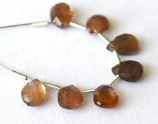 ANDALUSITE BEADS FACETED PEAR 5.5X7 - 5.5X8MM NATURAL GEMSTONE 7 CTS. 7 PCS @649