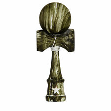 Green White Washed Rubberized Super Kendama,Super Sticky, Wooden Toy, USA