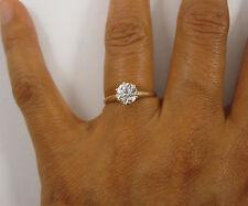 Antique Old Mine Cut 14k Gold 1ct White Sapphire Engagement Wedding Ring Sz 6.75