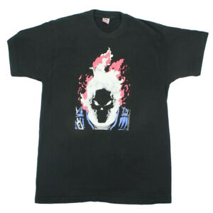 Vintage 1991 Marvel Ghost Rider T-Shirt 90s Glow In The Dark Comic Tee Men's XL
