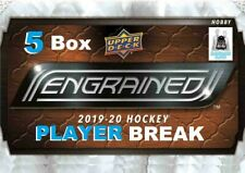 Quinn Hughes RC 2019-20 Upper Deck ENGRAINED 5 Box 1/2 Case Break Canucks