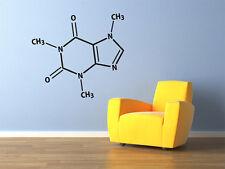 "Caffeine Molecule Vinyl Wall Decal 29x26"" Coffee Nerds Home Decor"