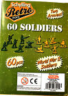 60 Retro Army Men 2 Armies Green and Sand Colors Toy Soldiers Military RMSP