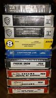 LOT OF 10 SEALED NEW UNOPENED 8-TRACK TAPES   DREAMS SEALS & CROFTS WAR LOOK!!!