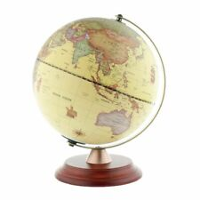 LED Illuminated World Globe Interactive Spinning Map With Wooden Stand Model New