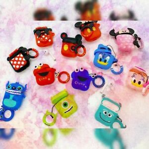 AirPod 1 2 Case Cover, 3D Cartoon Cute Mouse, Monster, Duck Characters with Ring