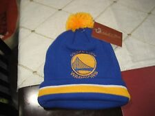 MITCHELL AND NESS GOLDEN STATE WARRIORS LARGE LOGO  POM BEANIE NBA NWT