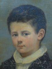 TABLEAU ANCIEN / PORTRAIT ENFANT A RESTAURER / IMPRESSIONISME