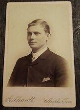 1800s Gebhardt Memphis Cabinet Photo Photograph - Gentleman in Suit Collar White