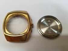 Omega Gold Plated case with Crown & Crystal Ref. 176.005