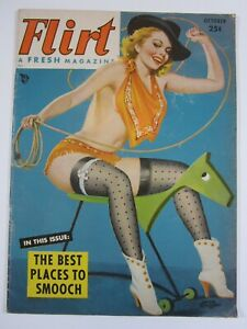 Flirt Magazine Vol. 5 #5  October 1952  VG+ Driben Cover! Betty Page!