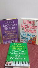 "Lot of 3 Lillian Jackson Braun Mysteries ""Cat Who"" Series Hardcover"