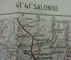 """WW1 (1916) MACEDONIAN (SALONICA) FRONT - British Map entitled """"SALONIKI"""""""