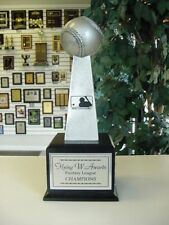 Small Silver Resin Lombardi Style Fantasy Baseball Perpetual Trophy 16 Years *