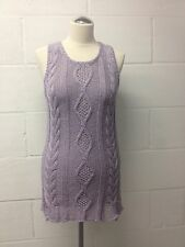 BNWT DIESEL Women's Lilac Lavender cotton sleeveless knitted Jumper size XS