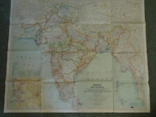 Map of India and Burma, Map of Political Subdivisions of India [Double sided map