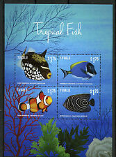 Tuvalu 2015 MNH Tropical Fish 4v M/S I Marine Clown Anemonefish Fishes