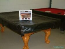 8' Black Real NAUGAHYDE Billiard Pool Table Cover ~ Best on the Market !