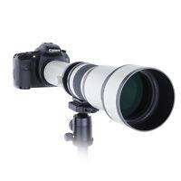 650-1300mm f/8-16 Long Range Telephoto Zoom Lens for Nikon DSLR Camera + T Mount