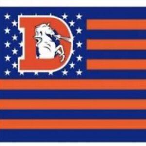 Denver Broncos 3x5 Foot American Banner Flag New