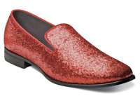 Stacy Adams Swank Glitter Slip On Shoes Red 25277-600