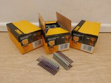 3 X 540 DEWALT DRS18100  25MM ELECTRICIANS INSULATED CROWN STAPLES FOR DCN701