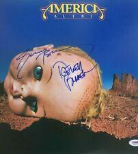 AMERICA Band Signed ALIBI Vinyl LP RECORD Album Dewey Bunnell GERRY BECKLEY PSA